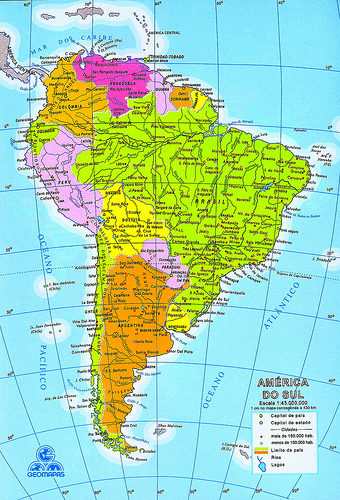 Venezuela is located in South America between Colombia