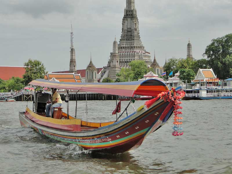 Take a boat ride on the Chao Phraya river