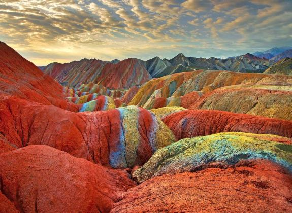 Dazzling Colors Rainbow Mountain in China